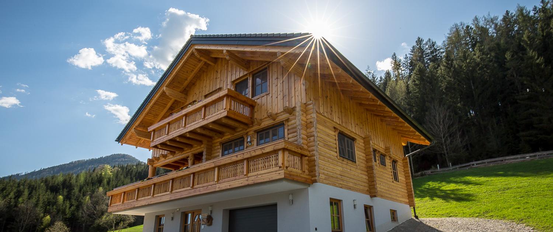 Blockhaus Holzhaus Naturstamm